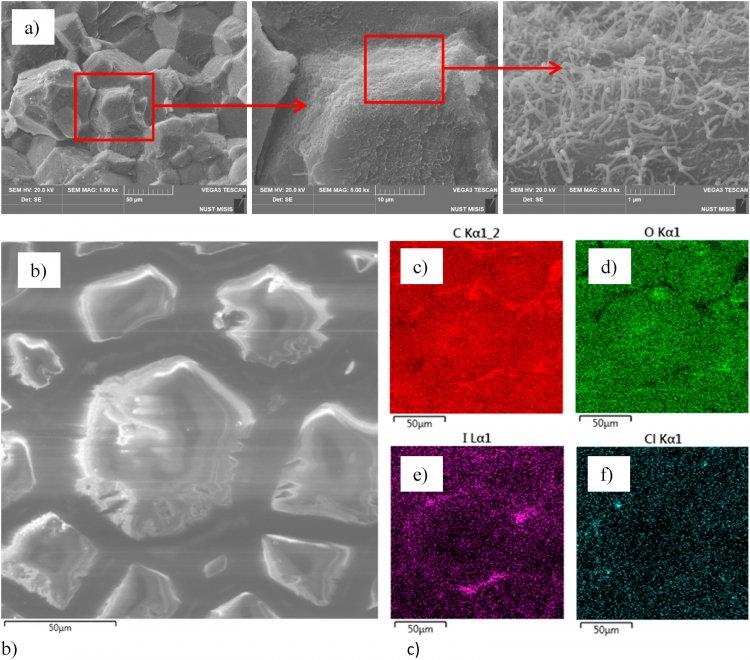 Морфология исходных компонентов и структура полученного композита под электронным микроскопом